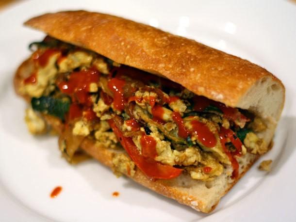 Pepper and Egg Sandwich Recipe
