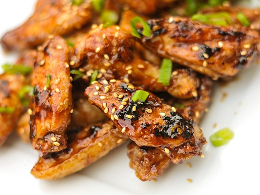 Grilled Hoisin-Glazed Chicken Wings Recipe