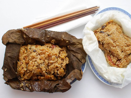 Dim Sum Classics: How to Make Sticky Rice Wrapped in Lotus Leaf (Lo Mai Gai)