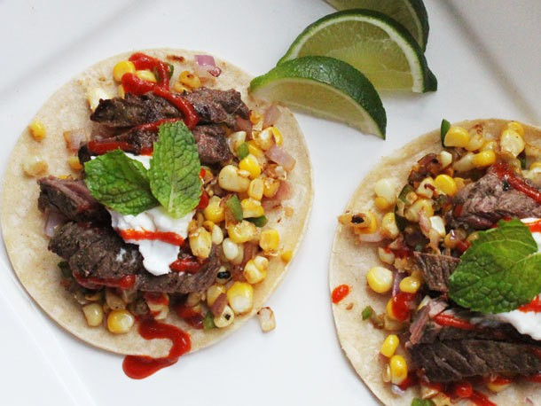 One-Pot Wonders: Steak Tacos With Charred Corn and Sriracha