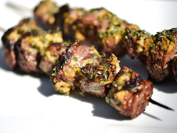 Herb-Crusted Lamb Skewers With Dijon Mustard Recipe