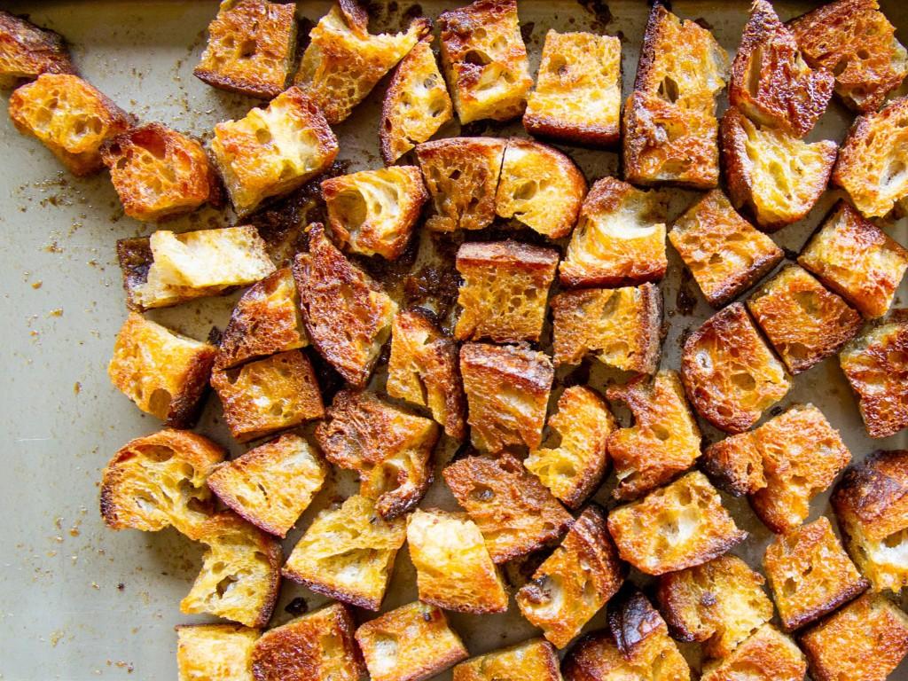 Sourdough Anchovy Croutons Recipe