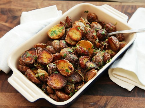 The Food Lab: Ultra-Crispy New Potatoes With Garlic, Herbs, and Lemon