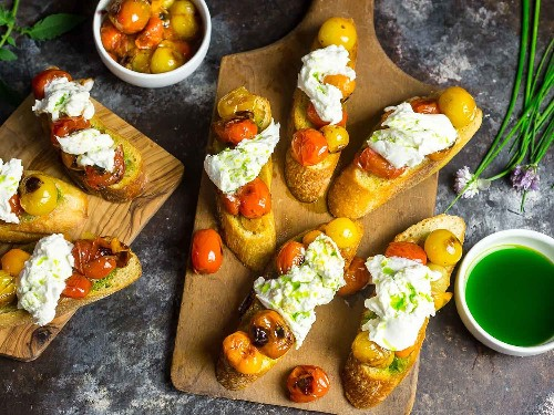 Tomato and Burrata Crostini: Not Just a Summertime Treat
