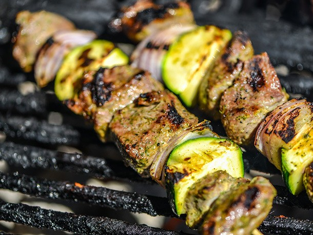 Flavor-Packed Yogurt- and Mint-Marinated Lamb Skewers