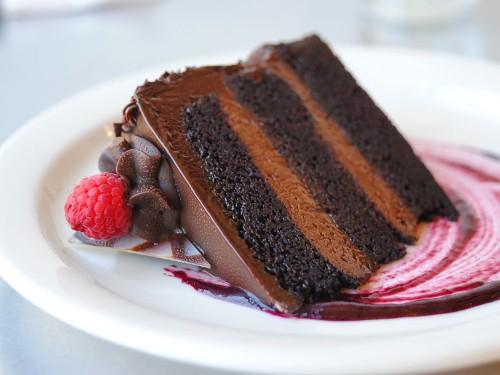 Sugar Rush: Double Belgian Chocolate Raspberry Torte at Taste of Belgium Bistro, Cincinnati