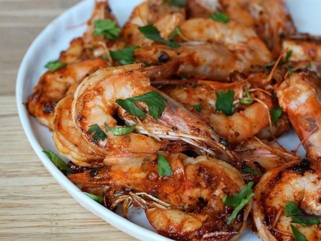 Stir-fried Garlic and Sriracha Shrimp Recipe