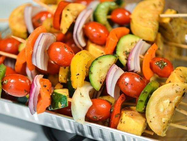 Balsamic Vegetable Skewers Recipe