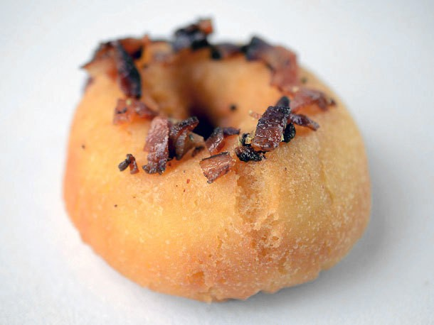 Fresh Doughnuts with Bacon and Pistachio at Toast Chicken Bar
