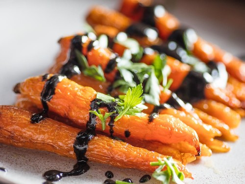 Roasted Carrots With Black Sesame Dressing Recipe
