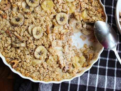 Maple-Banana Baked Oatmeal Recipe