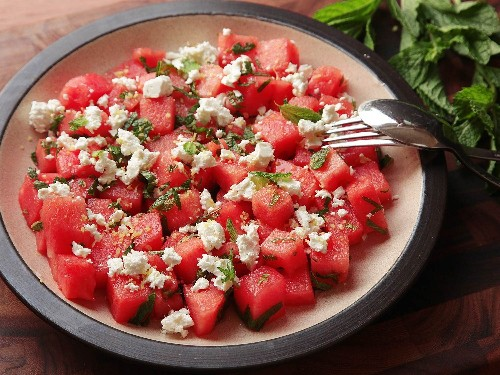 Watermelon, Feta, and Mint Salad Recipe