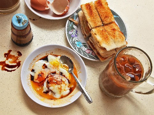 Singapore-Style Soft-Cooked Eggs With Kaya Jam and Toast Recipe