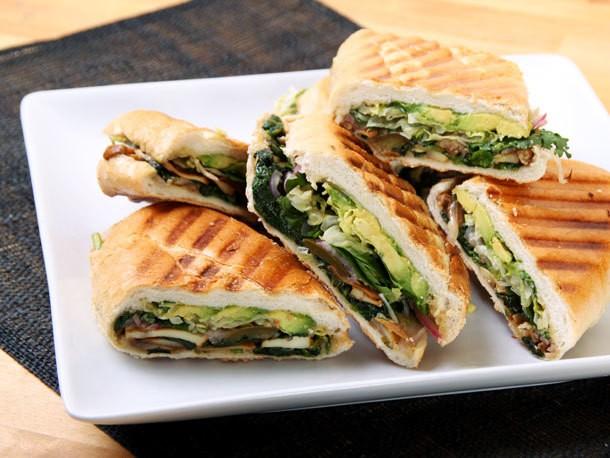 Mexican Mushroom and Spinach Sandwich (Vegan Torta) Recipe