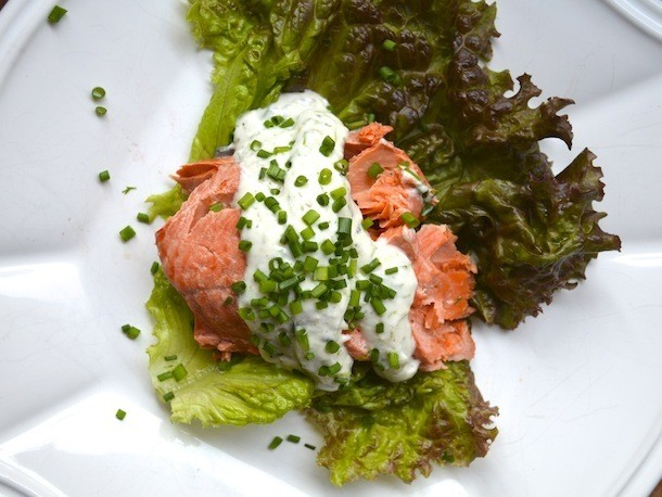 Poached Salmon With Dill Horseradish Sauce Recipe