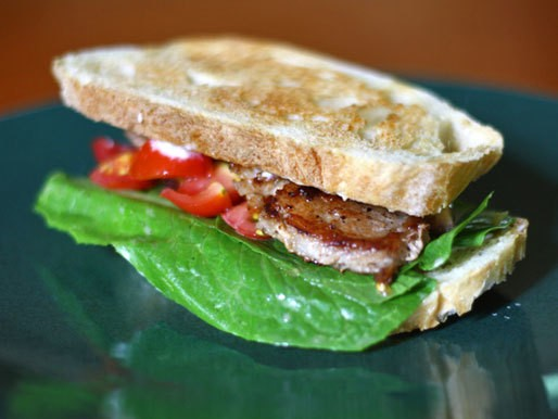 Dinner Tonight: Pork Belly BLT with Cherry Tomatoes