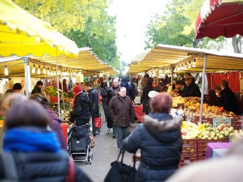 Market Scene: Bastille Market in Paris