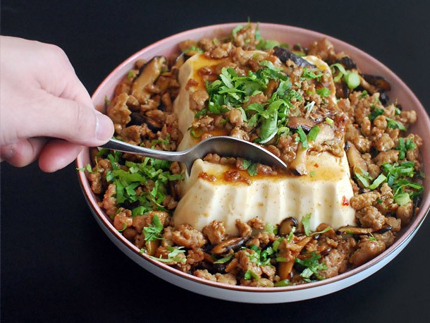 Chinese-American Mashup: Silken Tofu With Spicy Sausage