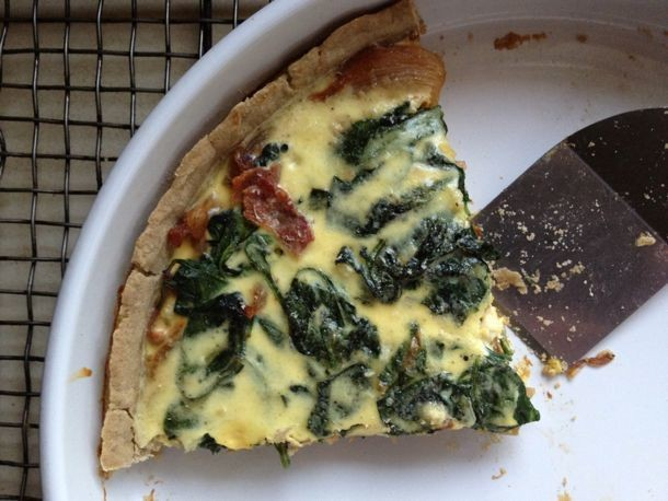Gluten-Free Spinach and Onion Tart Recipe