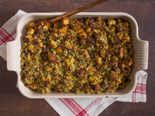 Cornbread Dressing With Sausage and Sage Recipe