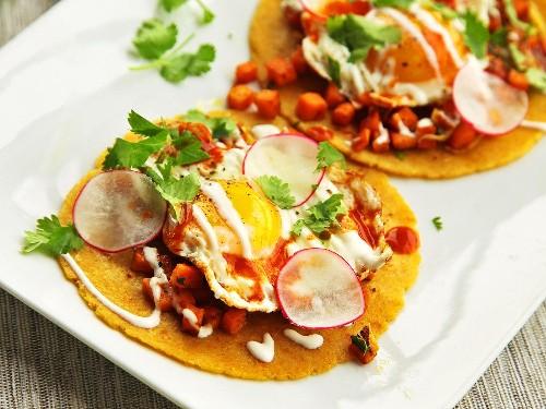 How to Make Sweet Potato, Sage, and Fried Egg Tacos