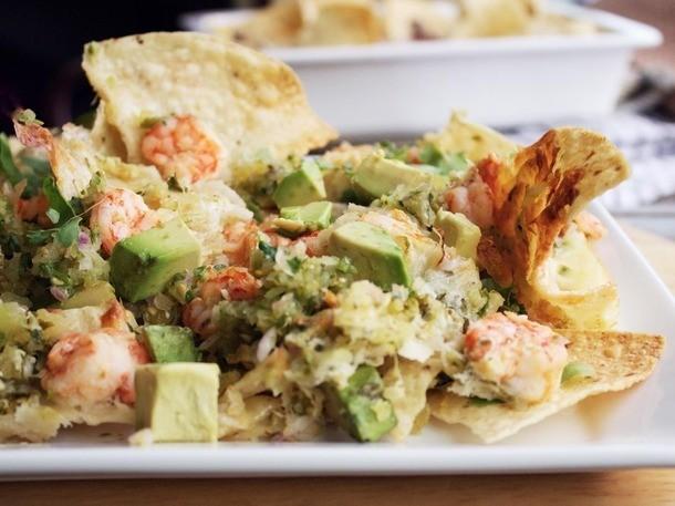 Shrimp Nachos With Tomatillo Salsa