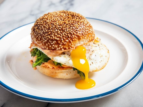 Fried Egg Sandwiches With 'Nduja Mayo and Broccoli Rabe Recipe