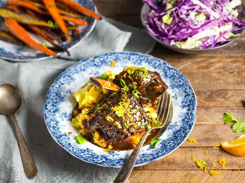 Dinner for Two: Braised Short Ribs With Honey, Soy, and Orange