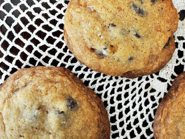 Salted Dark Chocolate Toffee Cookies Recipe
