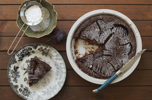 Seasonal Sweets: Chocolate Cardamon Plums 'Clafoutis'