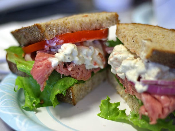 Eat This Now: Roast Beef Sandwich with Homemade Blue Cheese Dressing at Al's Deli