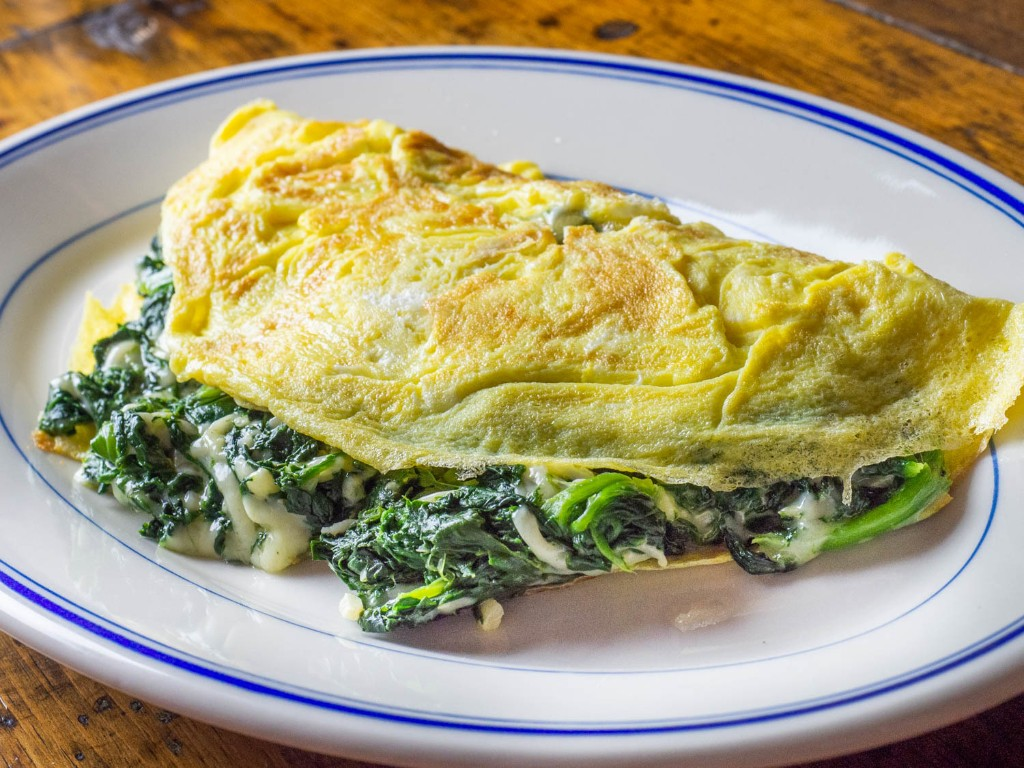 Florentine Omelette With Spinach and Cheese Recipe