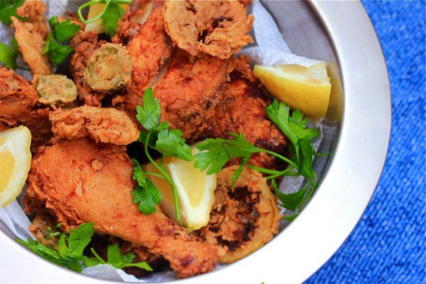 Double-Fried Chicken With Lemons and Jalapenos Recipe