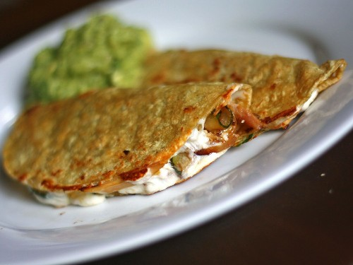 Quick Chicken and Zucchini Quesadillas Recipe