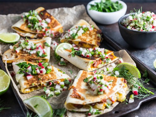 Dinner in 20: Chorizo Quesadillas With Radish and Fennel Salsa
