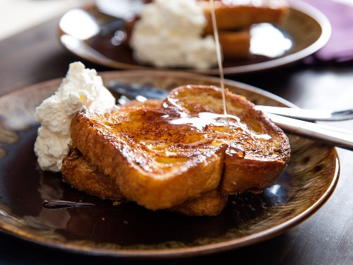 Orange-Rum Challah French Toast With Whipped Cream Recipe