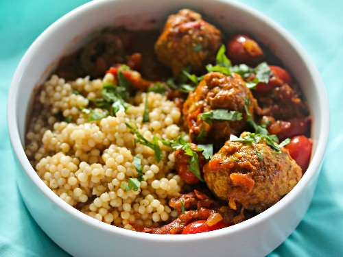 Sunday Supper: Pork Meatball Vindaloo With Pearl Couscous