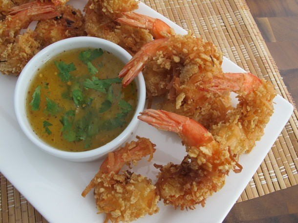 Crispy Rice Chex® Coconut Shrimp (Gluten Free) With Tangy Pineapple-Chili Dip Recipe