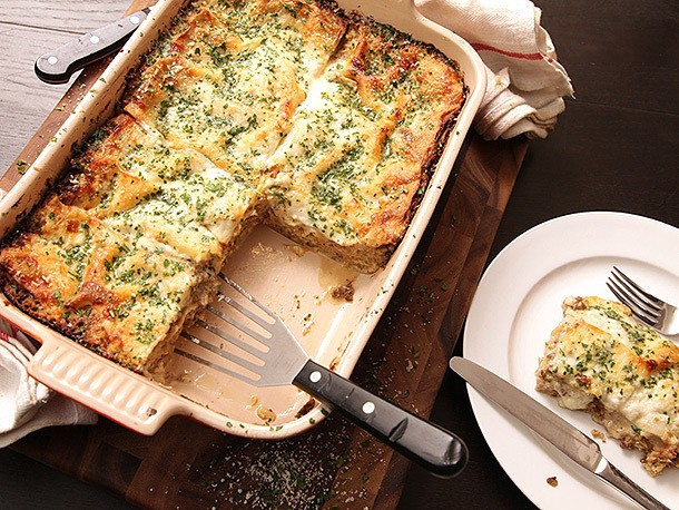 Creamy Brussels Sprout and Mushroom Lasagna Recipe