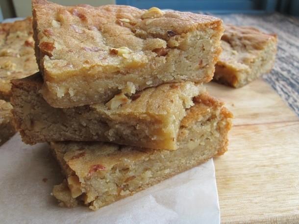 One Bowl Baking: Maple Walnut Blondies