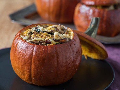 For a Killer Thanksgiving Vegetarian Main Dish, Stuff Your Pumpkins