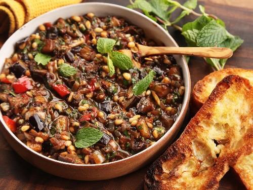 Sicilian Eggplant and Pine Nut Caponata Recipe