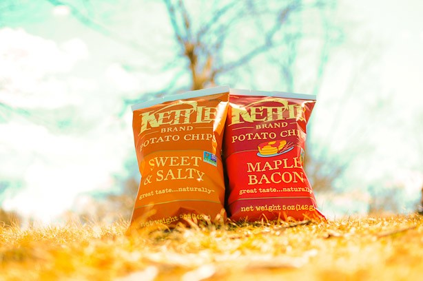Let's Get Chip-Faced: New Kettle Brand Chip Flavors, Maple Bacon and Sweet & Salty