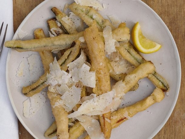 Fried Zucchini with Parmigiano-Reggiano and Lemon from 'Franny's'