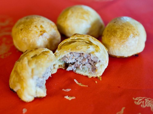 Suzhou Savory Pork Mooncakes Recipe