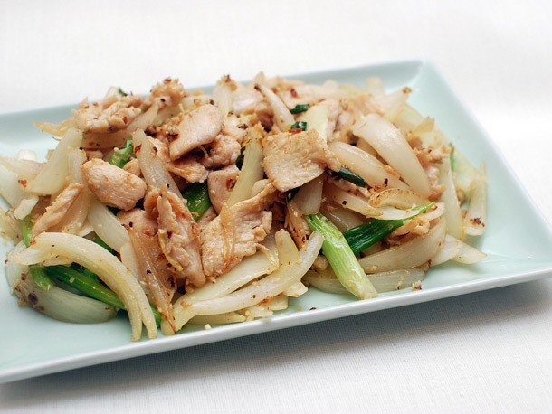 Easy Stir-Fried Chicken With Ginger and Scallions Recipe