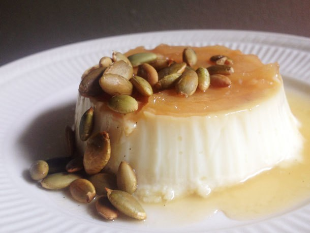 From the Pastry Dungeon: Caramel Apple Flan with Toasted Pepitas