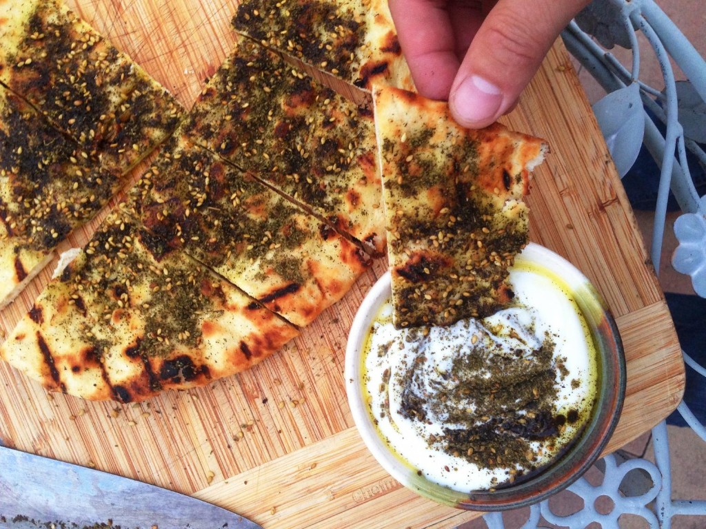 Super-Simple From-Scratch Grilled Flatbread With Olive Oil and Za'atar