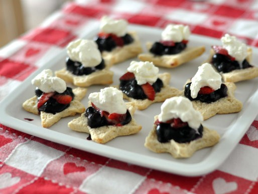 Red, White, and Blueberry Shortcakes Recipe