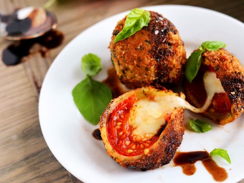 Boldly Go Where No Caprese Salad Has Gone Before: Fried Caprese Bombs